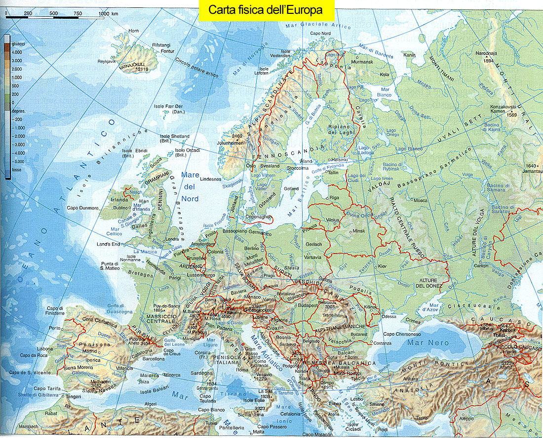 Cartina Muta Dell Europa Con I Confini.Oceano Atlantico Cartina Politica