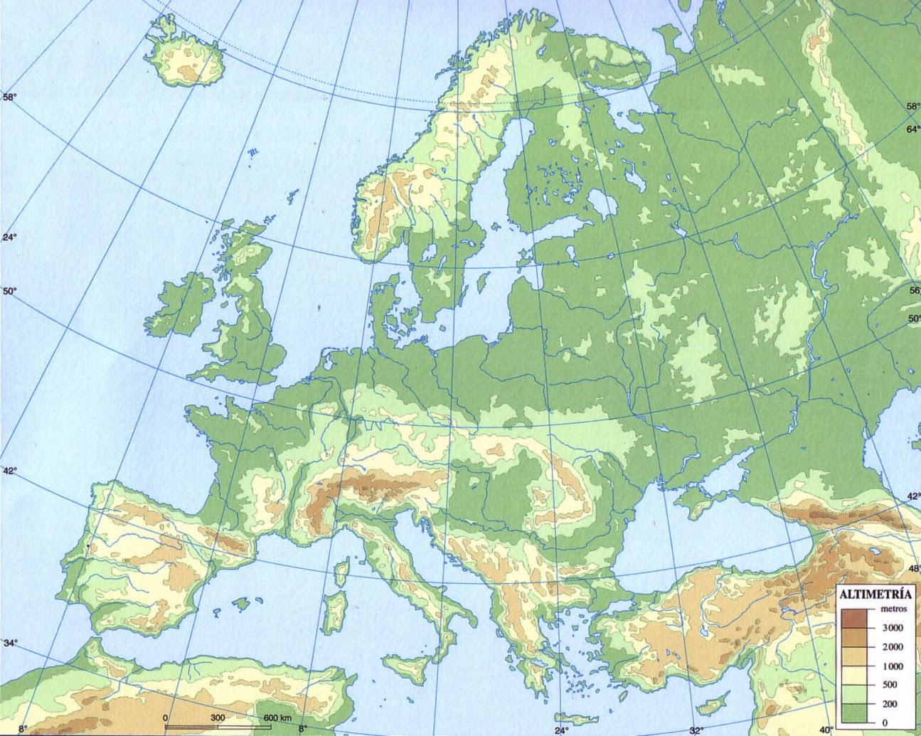 Mapa Mudo Europa Físico.Mapa Fisico De Europa