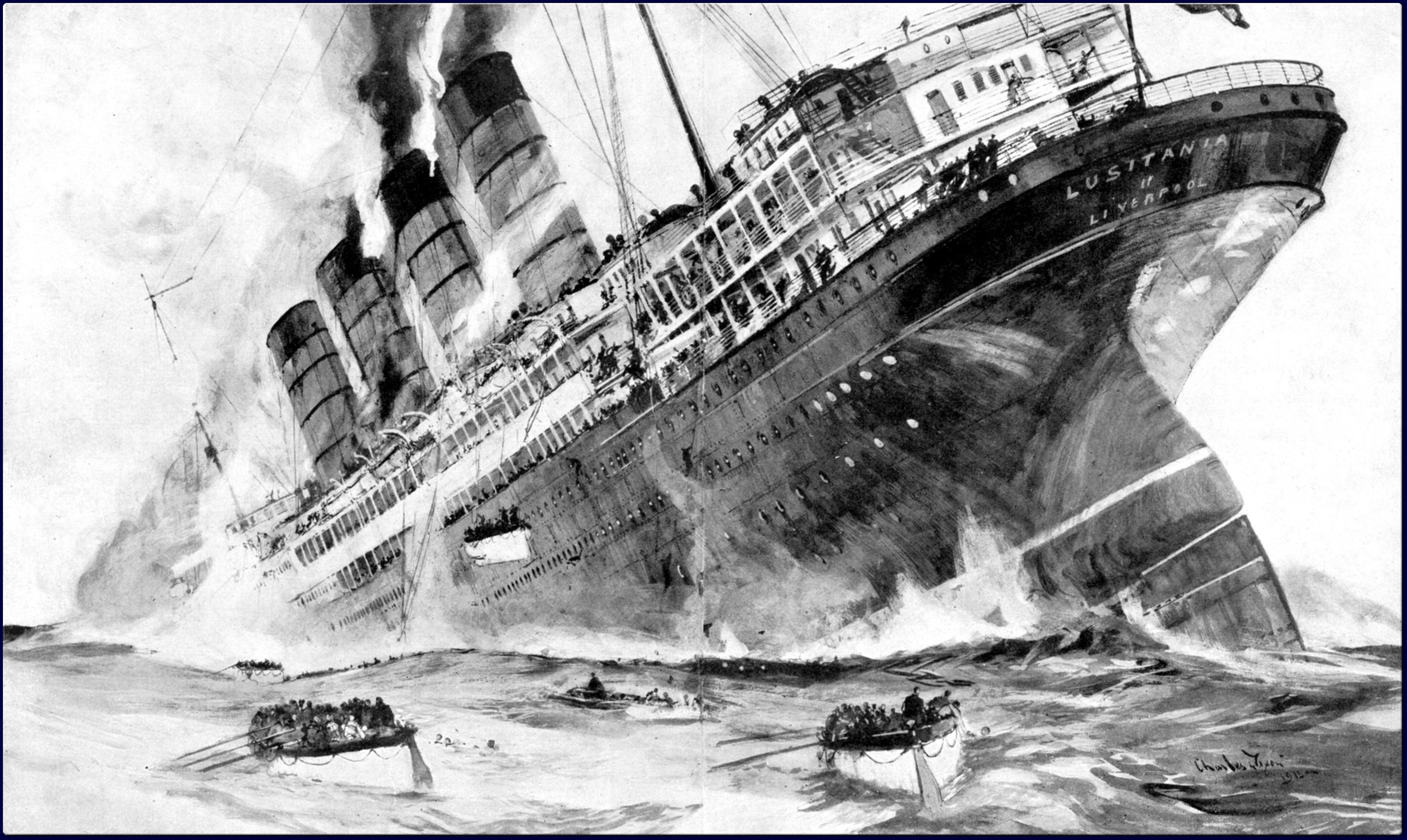 как олимпик потопил подводную лодку