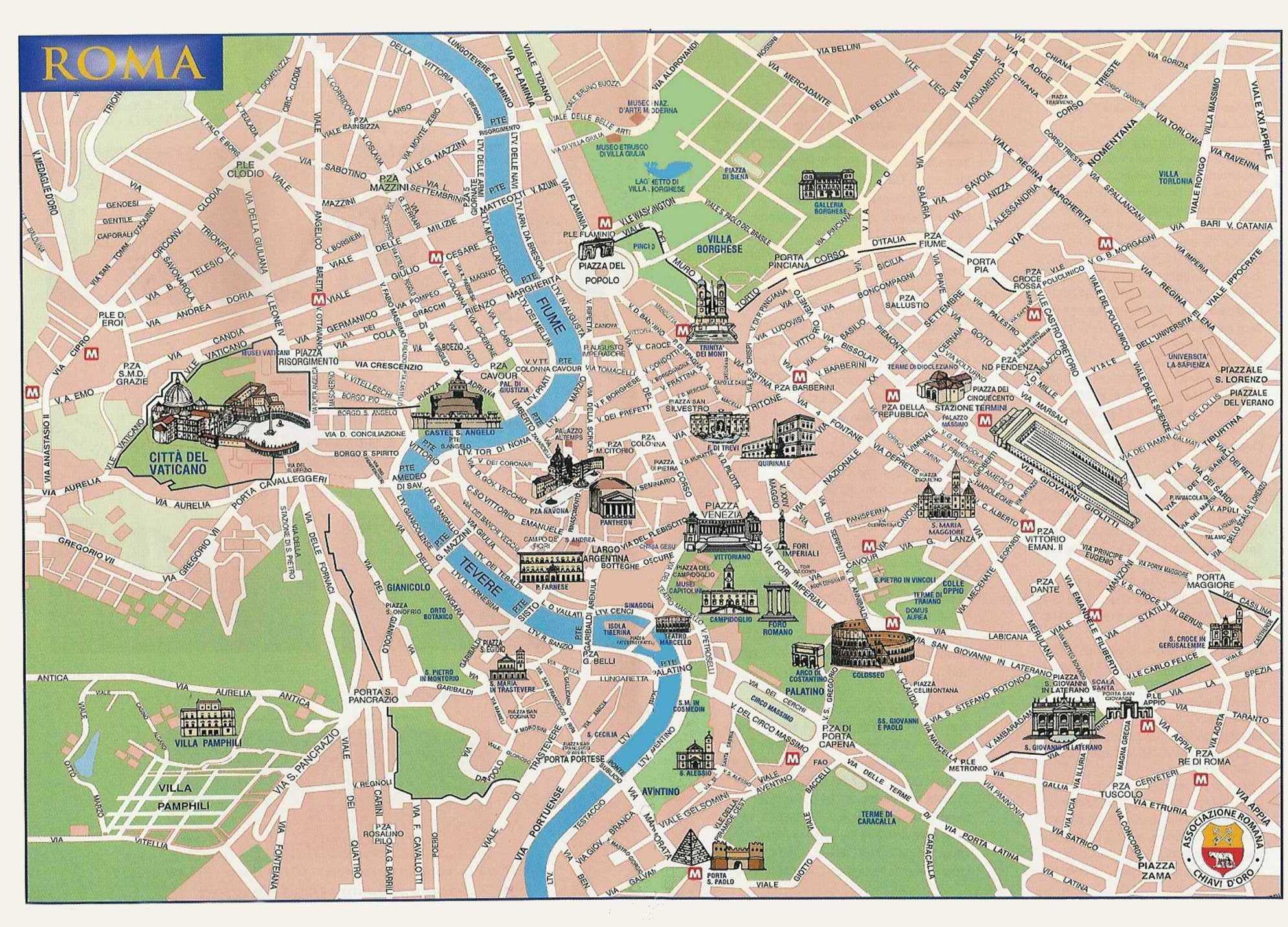 Cartina Roma Da Stampare.Roma Antica