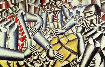 la partie de carte La partie de cartes, Fernand Léger, 1917.