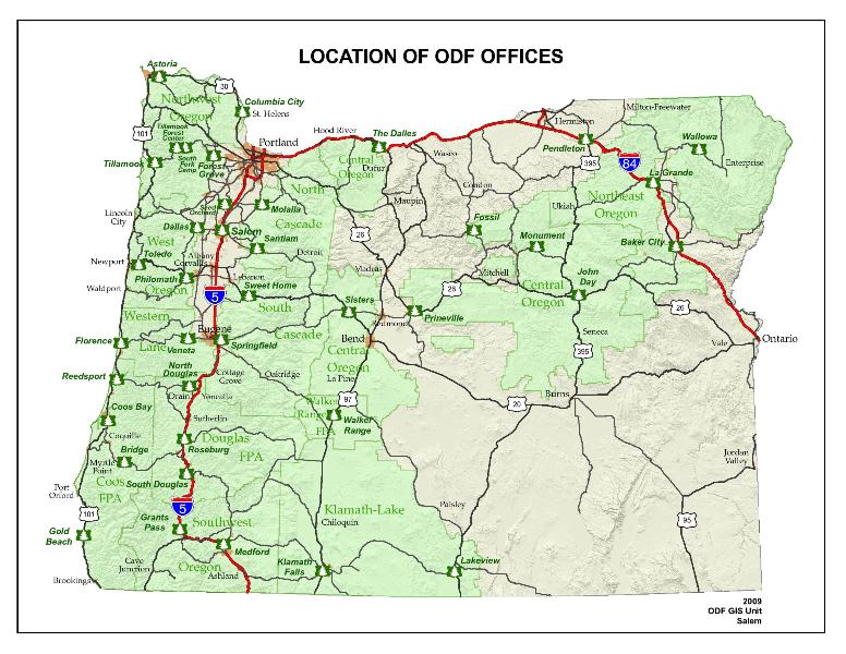 The State Of Oregon ThingLink - Map of the state of oregon