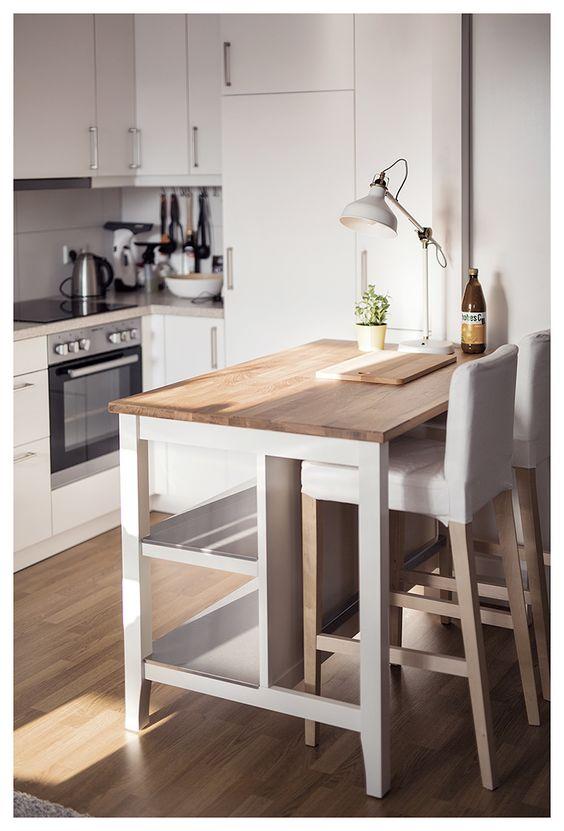 IKEA STENSTORP Kitchen Island, $999 , IKEA KUNGSFORS Mag...