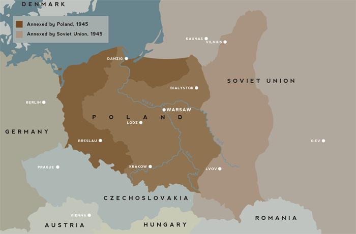 post ww2 map