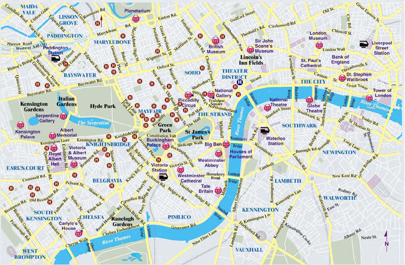 Cartina Londra Con Monumenti.Monumenti Di Londra