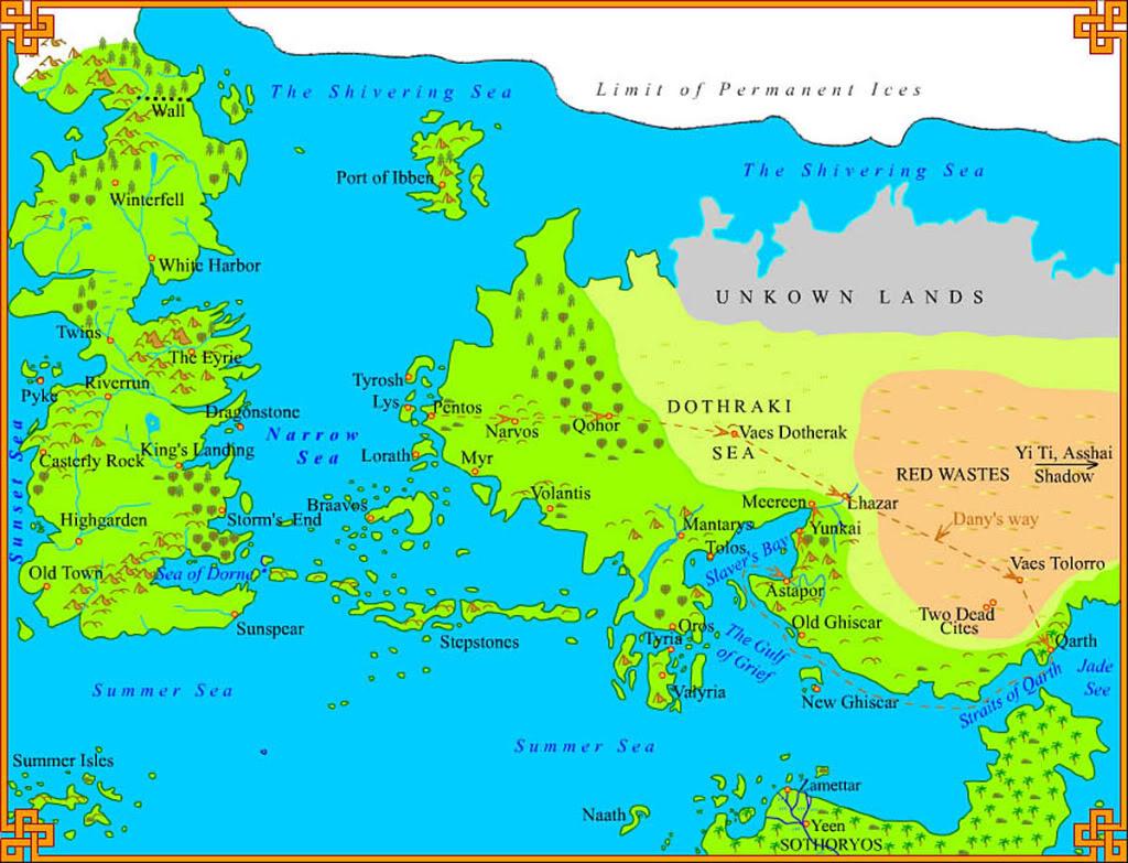 game of thrones map. game of thrones map  thinglink