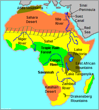 Chapter 13 Section 1 Geography Early Africa ThingLink