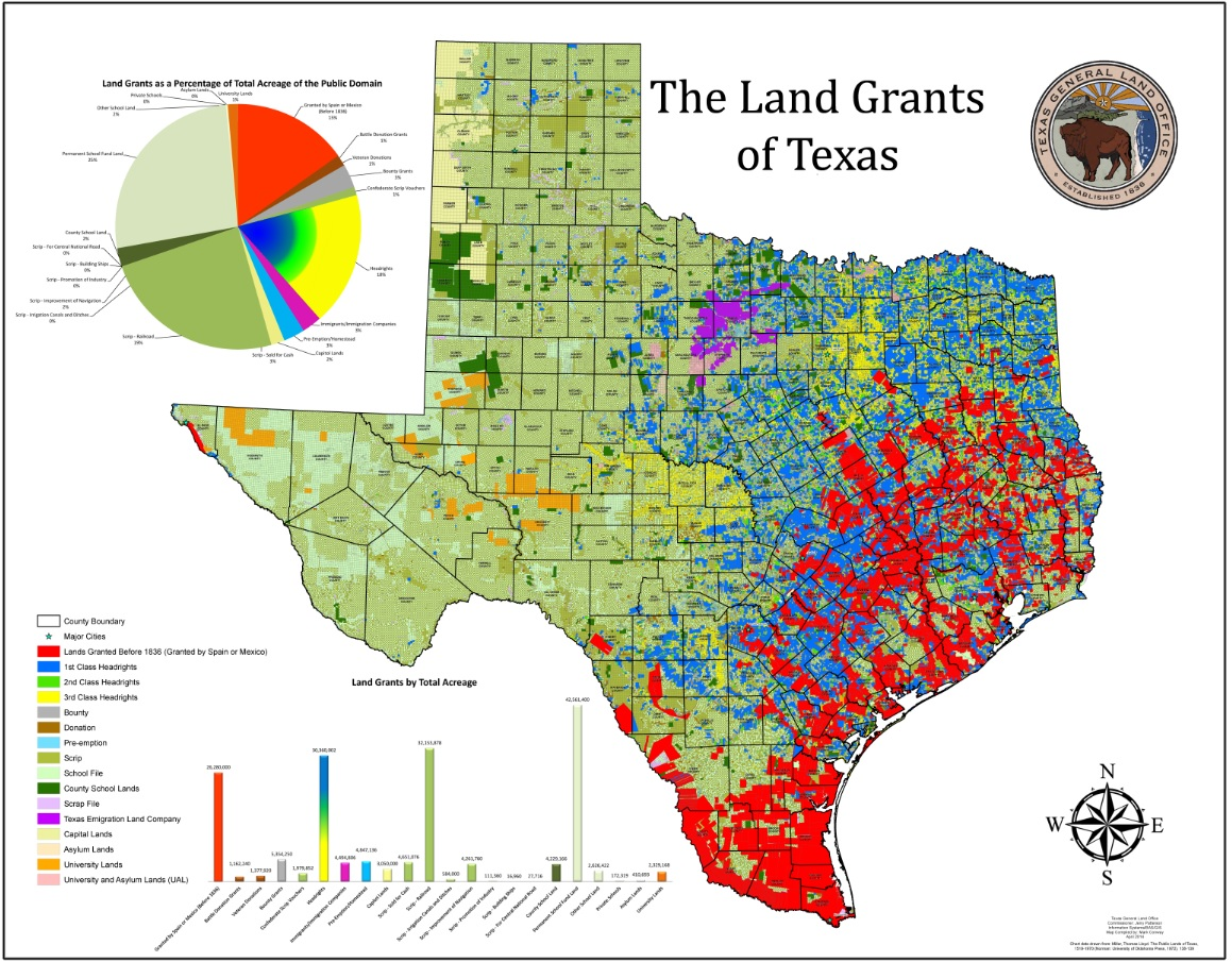 The Land Grants of Texas ThingLink