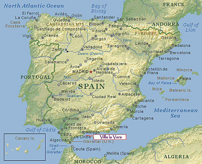 Map Of Spain Geography.Tommy S Spain Map