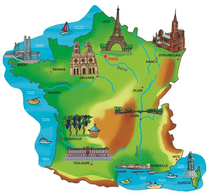 Cartina Della Francia Con Monumenti.Remix Of La Mappa Della Francia Sb