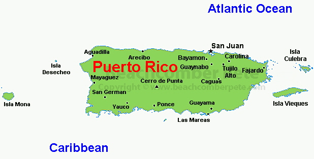 This Island Is Located In The Caribbean It Is East Of Do - Map of puerto rico caribbean islands