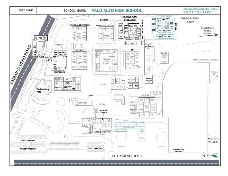 Palo Alto High School Map Palo Alto Interactive Camera Map