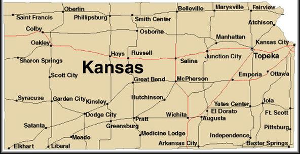 Kansas ThingLink - Map of kansas state