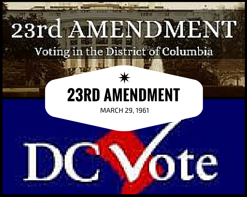"""23rd amendment When the constitution was ratified in its original form in 1788, new york city was the nation's capital but the so-called """"district clause"""" in article i, section 8 of the constitution made provision for a purpose-built new capital, which was to be under the exclusive authority of congress."""