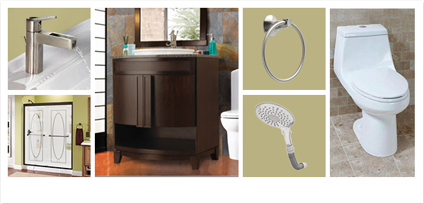 Fiji Vanity in Java – The Home Depot Bath Collage