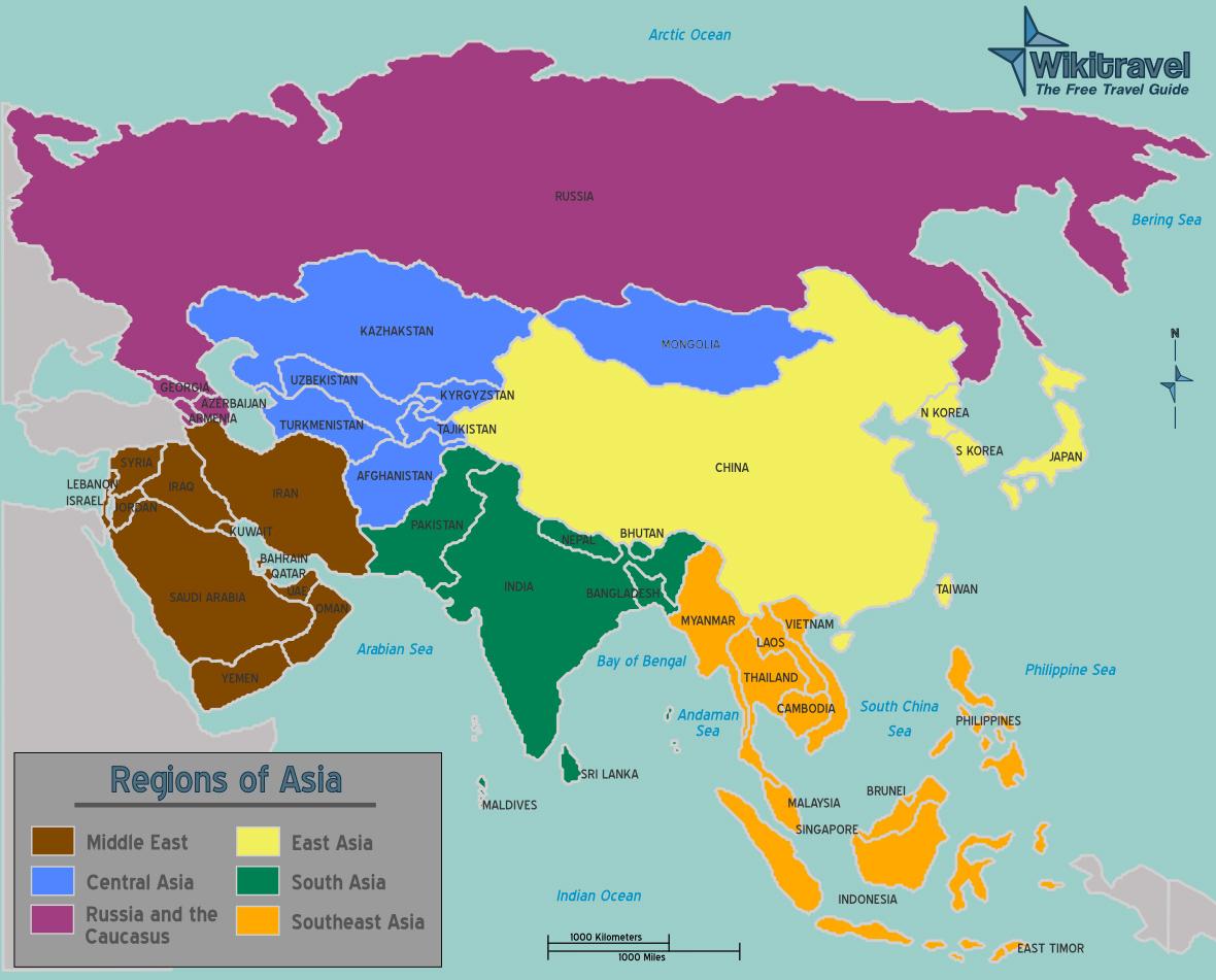 staaten asien