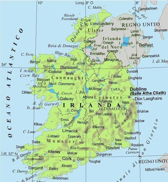 Cartina Geografica Irlanda Del Sud.Irlanda Lessons Blendspace