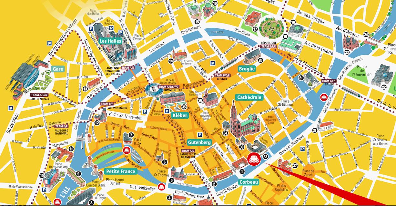 plan de strasbourg centre ville