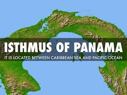 describe the major land forms panama there is the isthmus