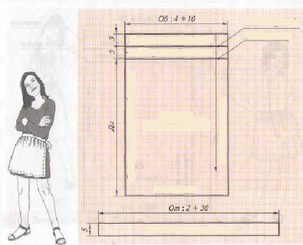 Как сшить фартук с нагрудником 5 класс технология от начало и до конца 48