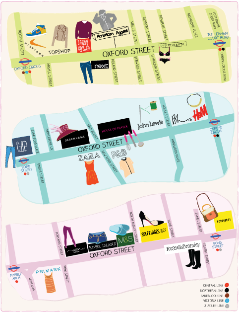 Oxford Street Shops Map Map of Oxford Street London – Download street map – Time Out London