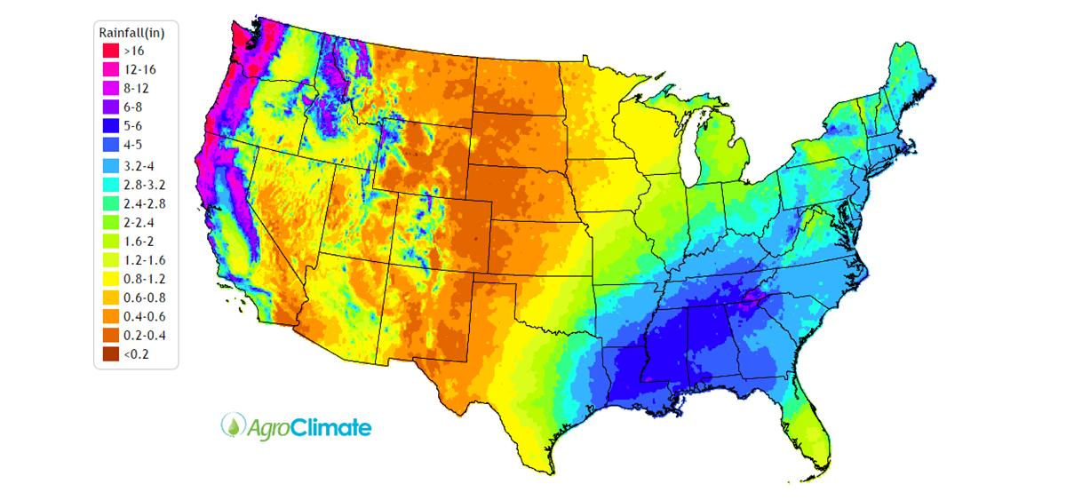 Climate ThingLink - Us average annual humidity map
