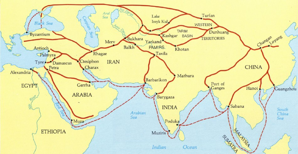 continuities and changes of the silk road