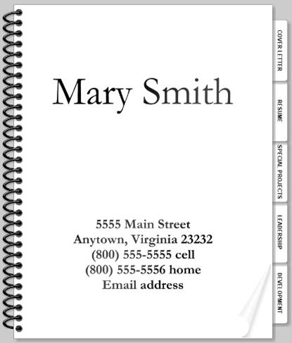 career portfolio cover page template