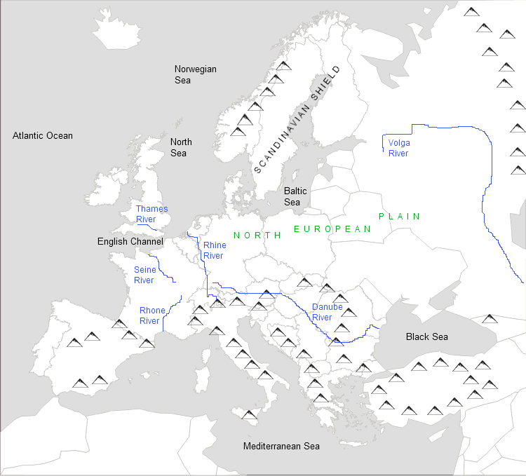 Physical Features of Europe on massif central map, eastern european map, modern european map, european history map, european religious map, the european map, european geography map, european language map, iberian peninsula map, world map, european climate map, european cultural map, european countries, pyrenees map, european cities map, european weather map, european geopolitical map, ural mountains location on map, europe map, european satellite map,