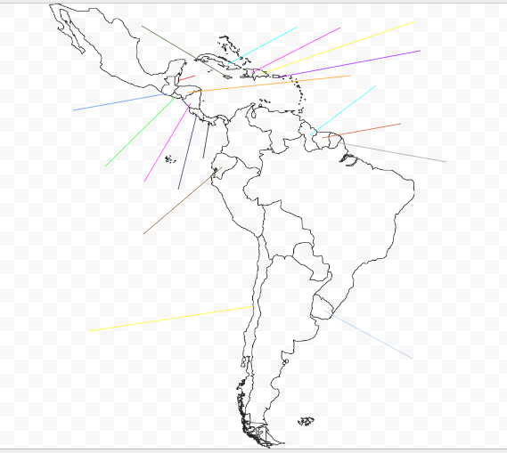Thinglink For South, Central America, Carribean Map Quiz