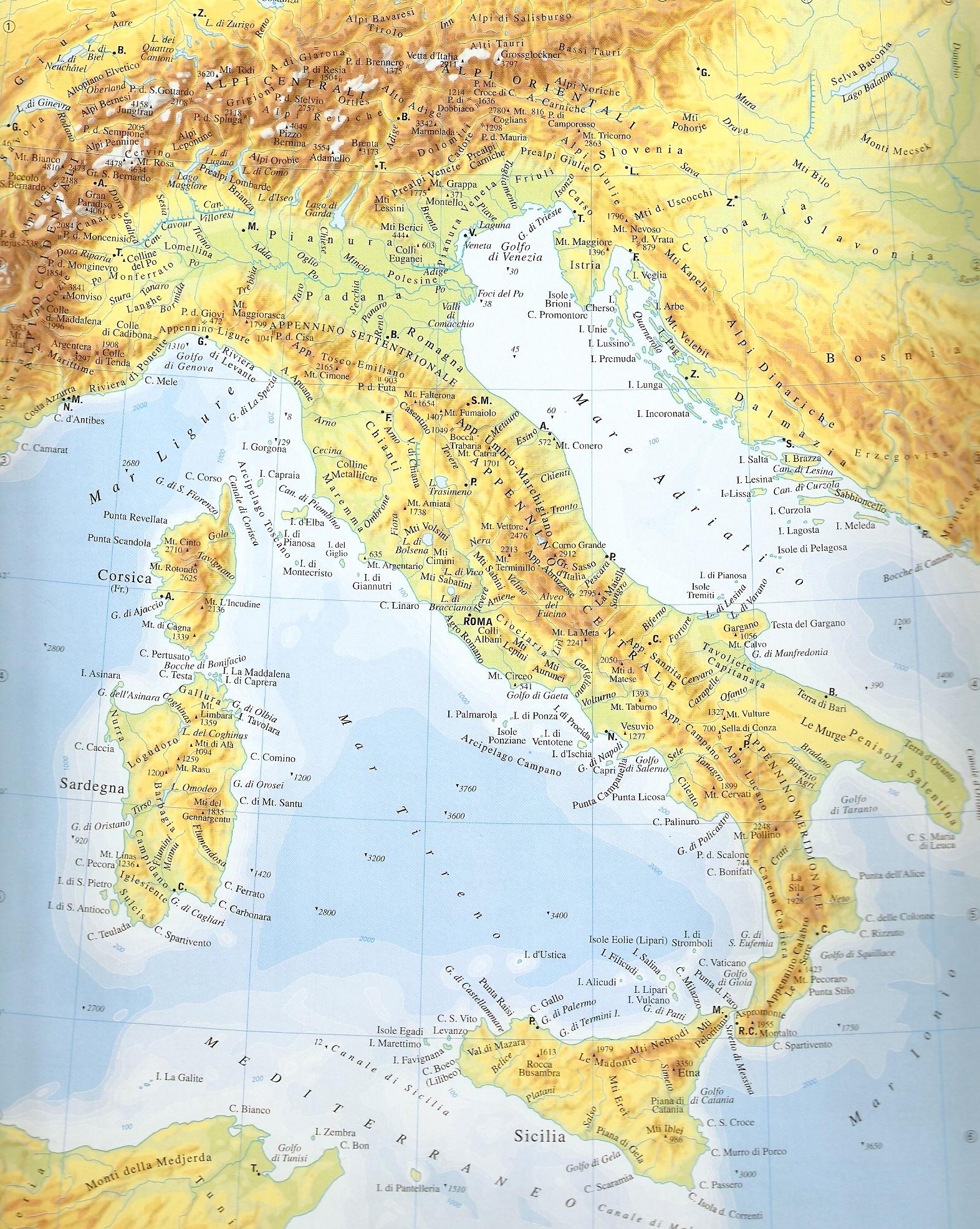 Cartina Dellitalia Montuosa.Remix Of Alpi E Appennini