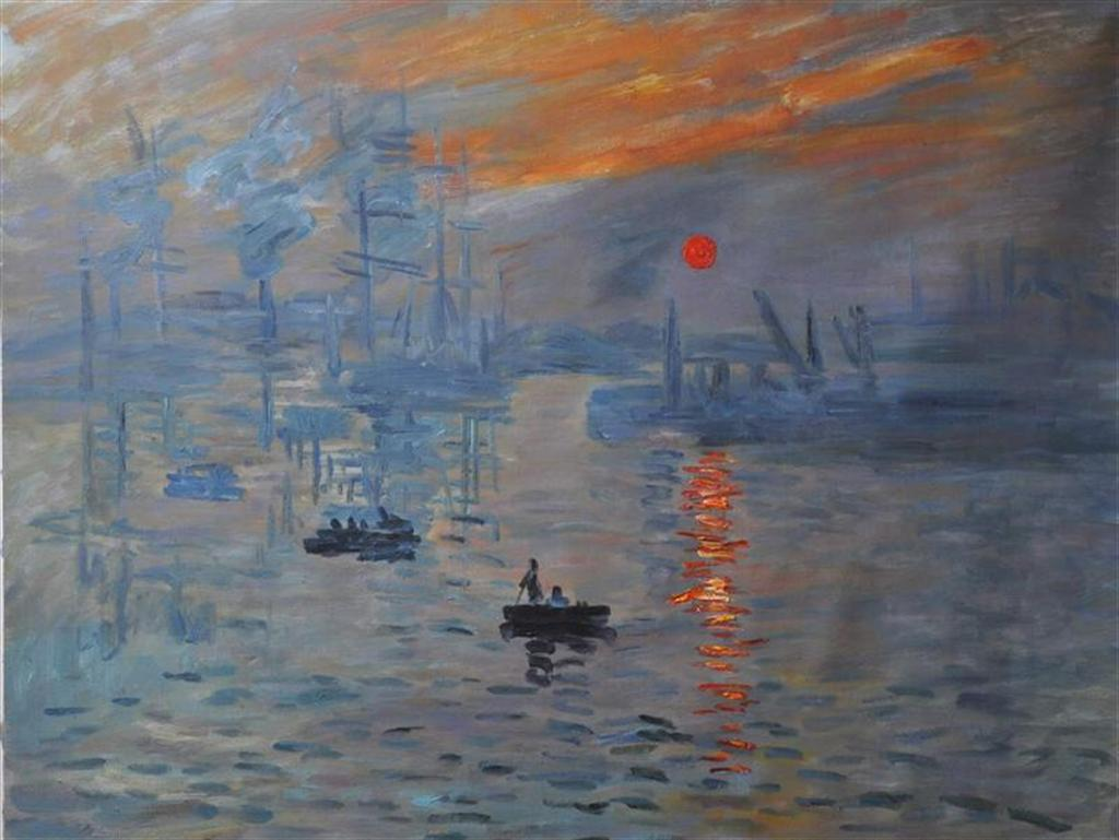 "Image result for Monet, ""Impression: Sunrise,"""