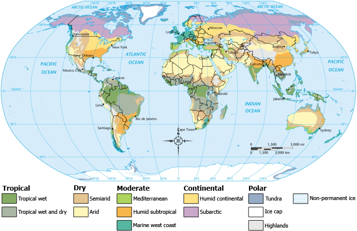 Map Of Africa Climate Zones.Climate Zones Map