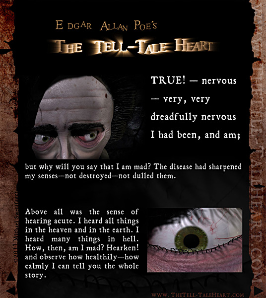 "a setting analysis of a tell tale heart by edgar allan poe ""the tell-tale heart"" by edgar allan poe from carol oates, joyce, edthe oxford book of american short stories oxford: oxford university press, 1992."