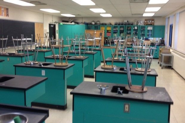 ... and notes about lab safety onto the picture of our science lab