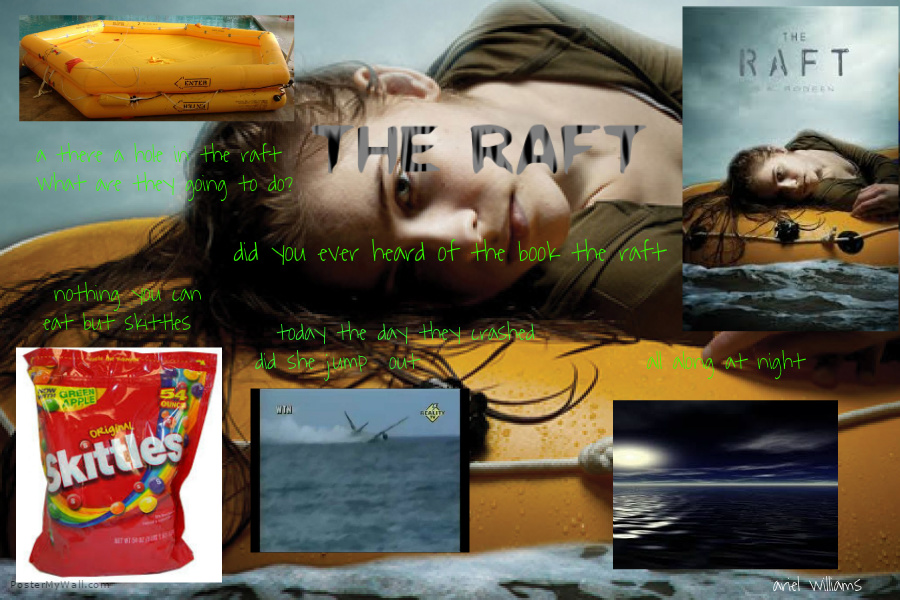 The Raft By Sa Bodeen Poster Ariel Willliams