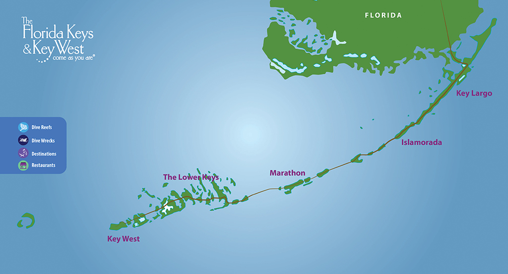 Map Of Florida Key West.Fl Keys Map