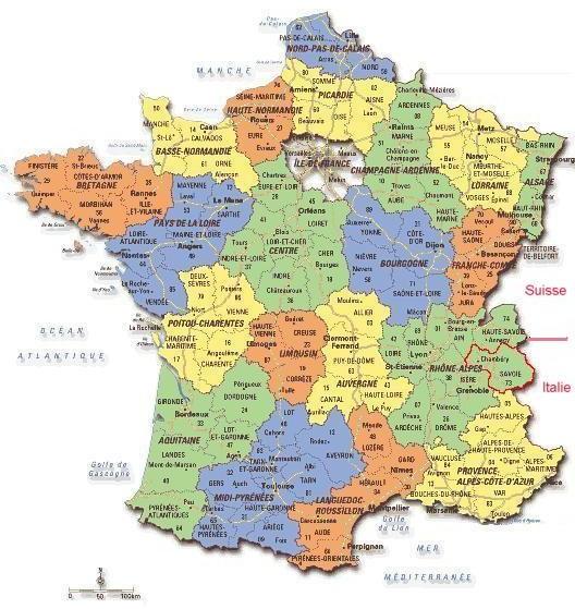 savoie carte de france Nouvelle région : La Haute France