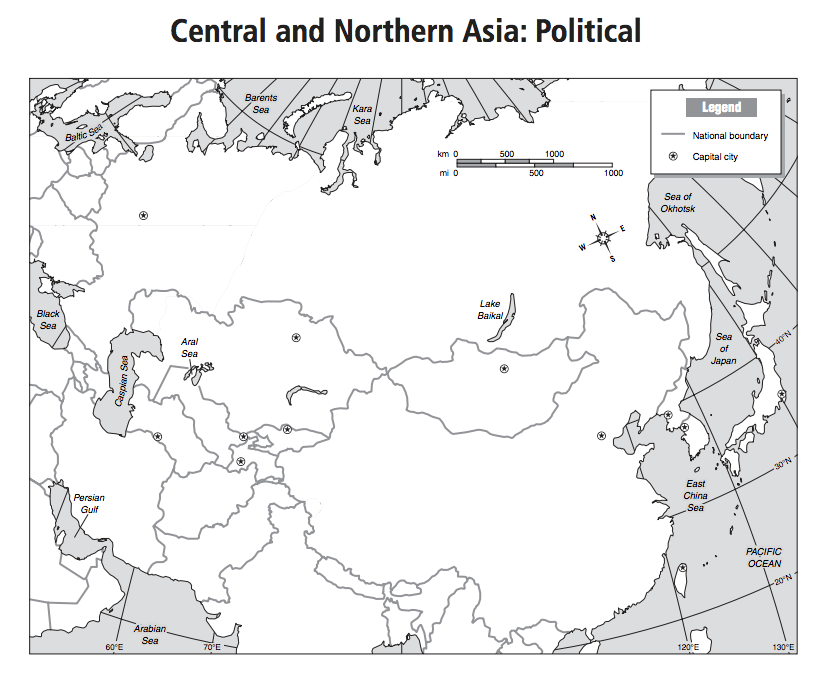 Central and Northern Asia