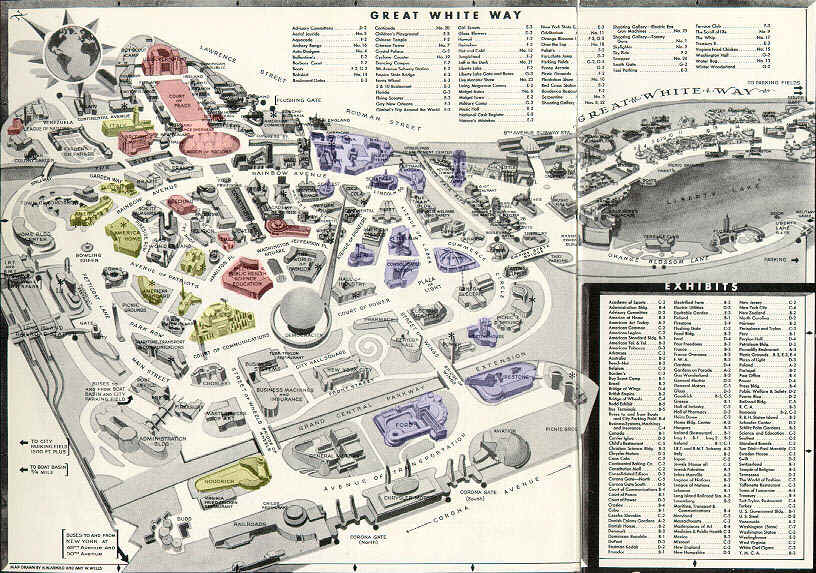 Map of New York Worlds Fair 19391940 ThingLink