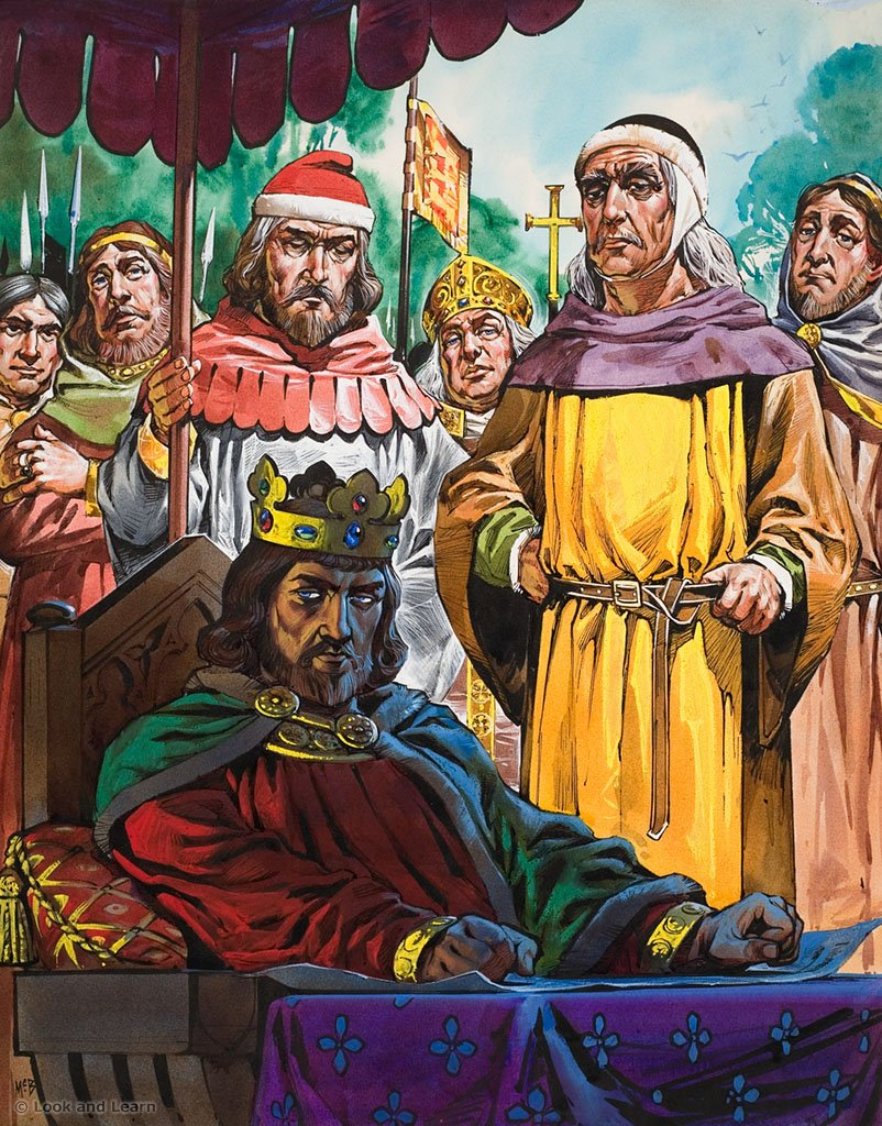 Image result for king john signed the magna carta