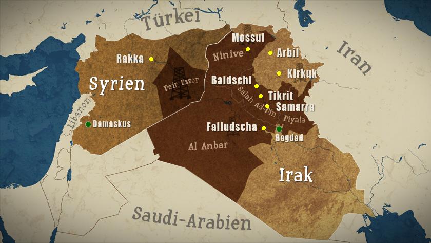 Syrien Irak Karte.Karte Syrien Irak