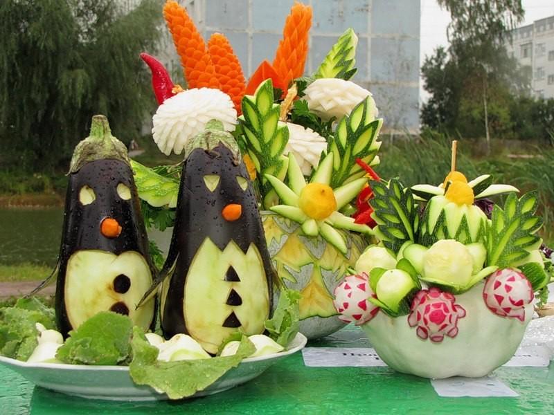 Поделки из цветов овощей фруктов