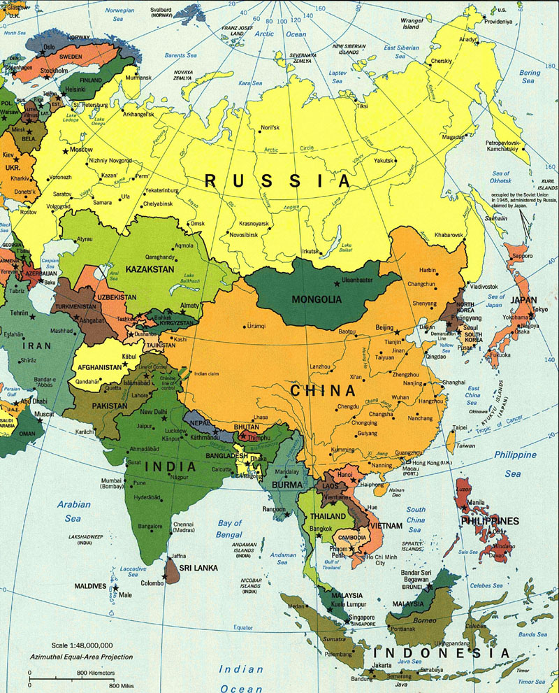 Cold War Map Of Asia.Cold War Asia Map