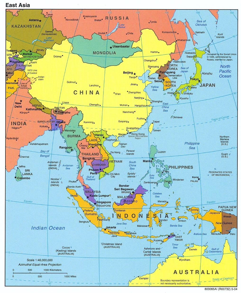 East Asia Industrial Regions