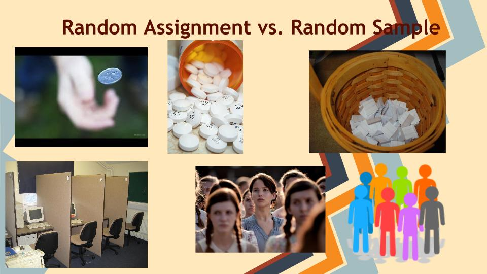 Random sampling vs random assignment