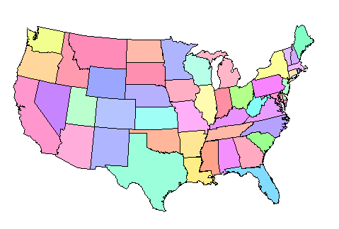 Interactive Us Map Color States Globalinterco - Us state map outline that can be colored