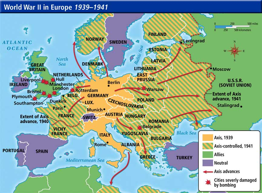 World War II in Europe 1939-1941