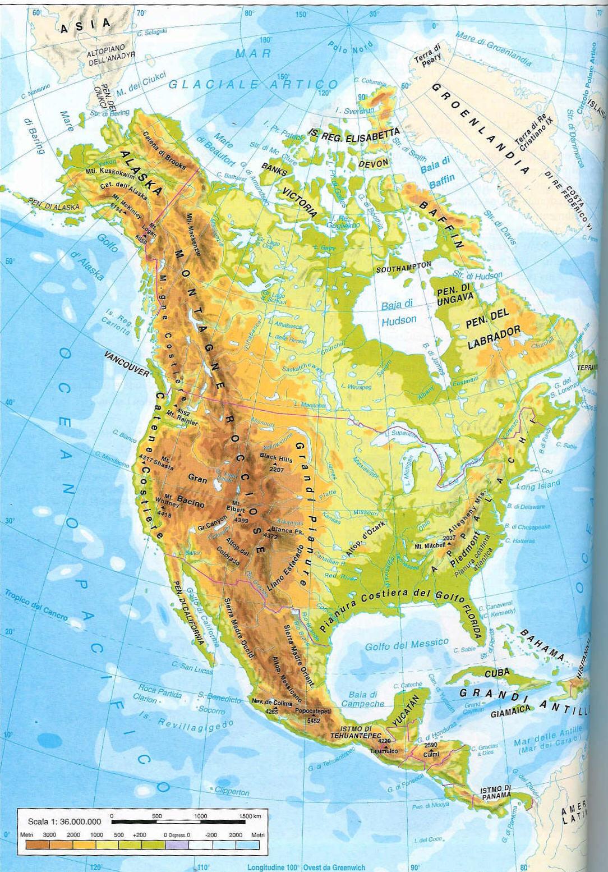 Cartina 1500.Montagne Rocciose Penisola Del Labrador Lago Superior
