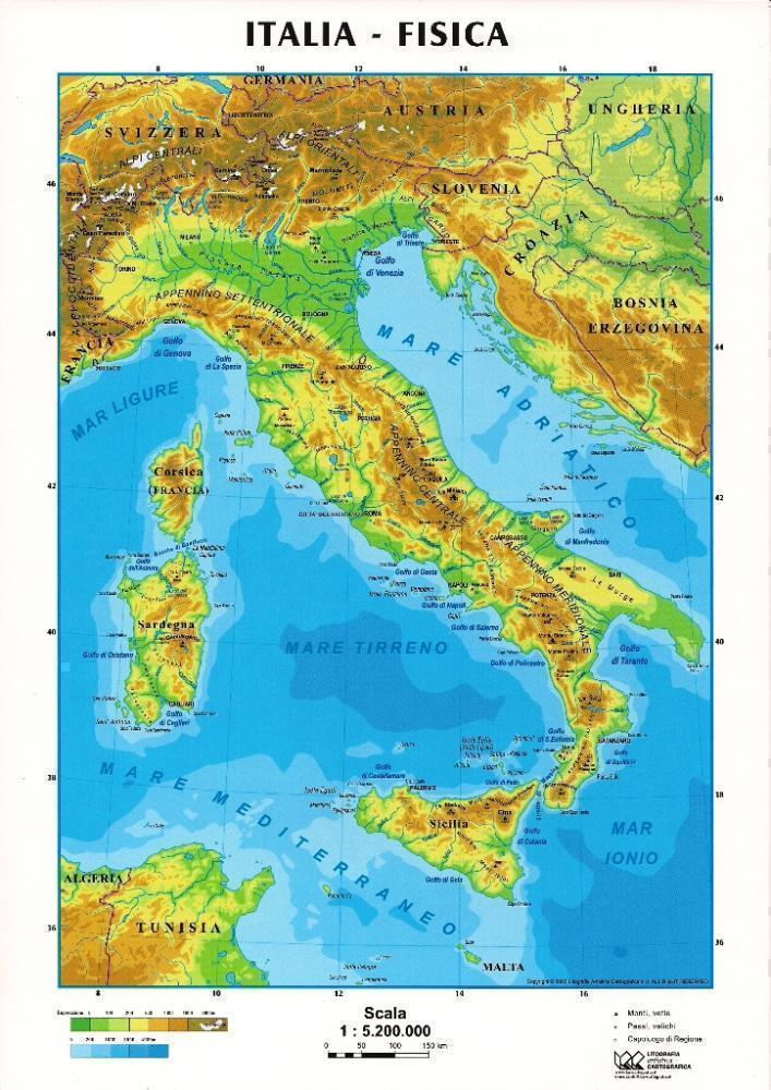 Italia Del Sud Cartina Geografica.Italia Centrale Italia Del Nord Italia Del Sud